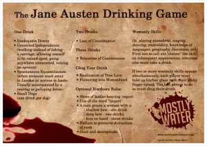 Jane Austen Drinking Game