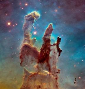 "The updated photo of the ""Pillars of Creation"", Hubble Telescope, 2014"